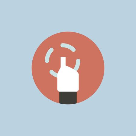 Vector of hand cursor Ilustrace