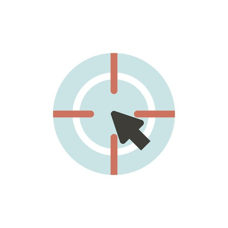 Target icon illustration. Illustration