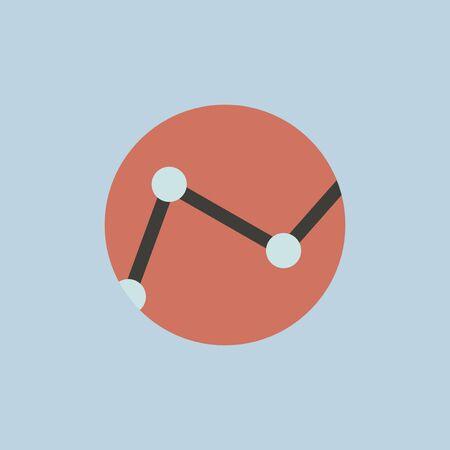 Business graph icon illustration.