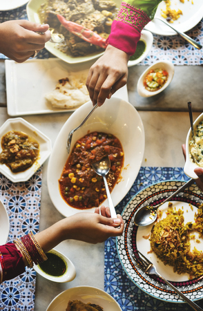 Indian Ethnicity Meal Food Casual Society Concept