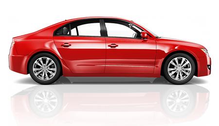 빨간 자동차의 그림 스톡 콘텐츠