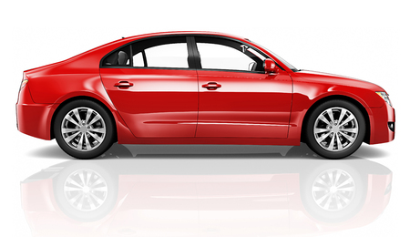 Illustration of a red car Stock Illustration - 89713037