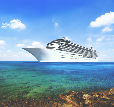 Zee Route Cruise Skyline Zomer Concept