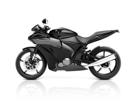 Illustration of a black big bike