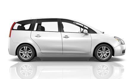 흰색 자동차의 그림