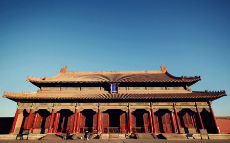 The Majestic Forbidden City in Beijing China.