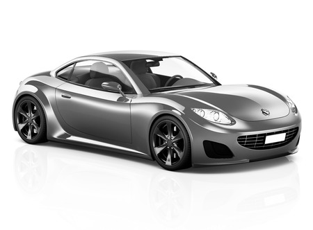 Illustration of a gray car Stock Photo