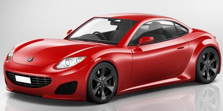 Illustratie van een rode auto