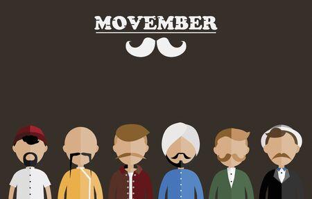 Movember 인식 캠페인 스톡 콘텐츠