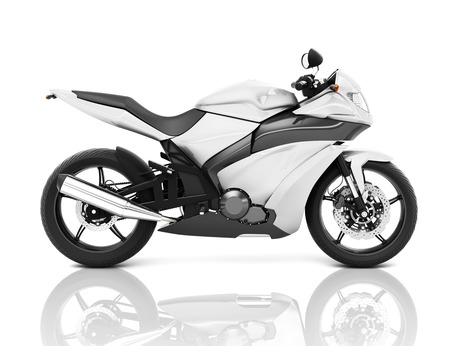 Illustration of white big bike