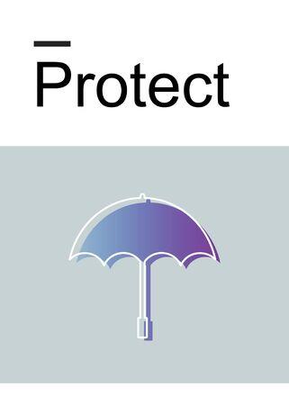 Bescherming illustratie Stockfoto
