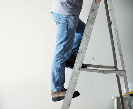 Handyman working renovating build tools