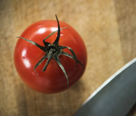 Closeup of fresh organic tomatoes