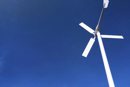 Wind turbine power generator with blue sky Stok Fotoğraf