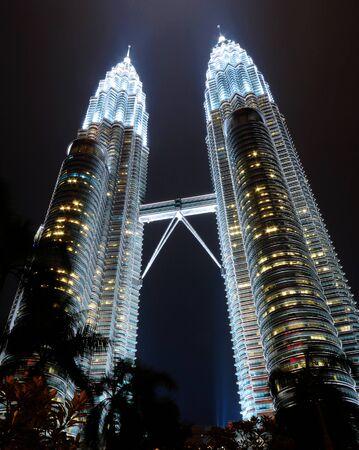451m Petronas Towers at night