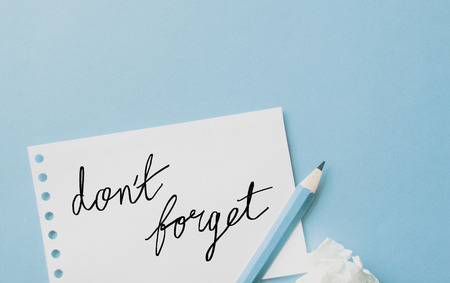 Don't forget notes Stock Photo - 89586862