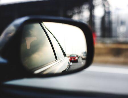Mirror Car Automotive Viewer Vehicle Banco de Imagens
