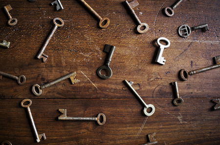 Keys on the table Stock Photo