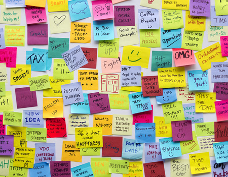 Sticky Note  Board Office Stock fotó - 89607513