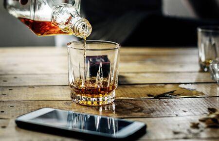 Person getting drunk Reklamní fotografie