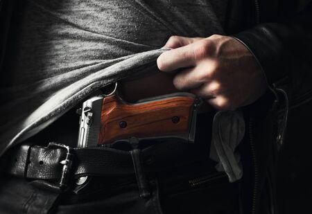 총기류의 불법 소유 스톡 콘텐츠 - 89587009