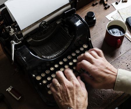 Vintage typewriter shoot