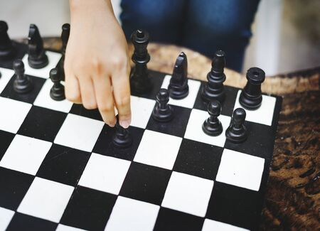 솔로 체스 연주 스톡 콘텐츠