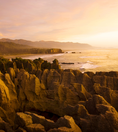 Pancake Rocks, Punakaiki, South Island, New Zealand.