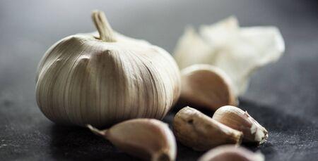 Fresh garlic cloves cooking ingredient