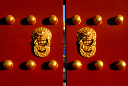 Iconic Chinese Gate, Beijing, China.