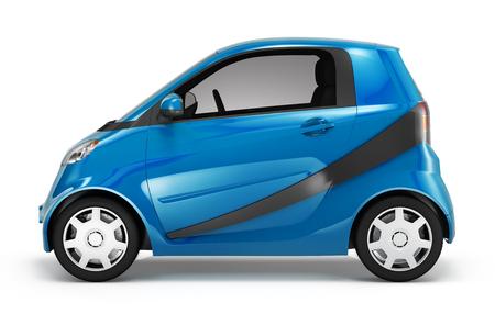 Illustration of a blue car