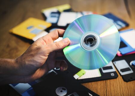 Disks and floppy disks Zdjęcie Seryjne