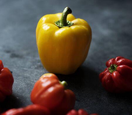 Fresh sweet bell peppers