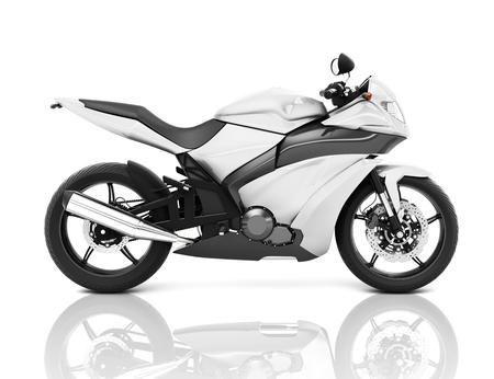 Illustration of white big bike