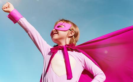 Little Girl Super Hero Concept Stock Photo