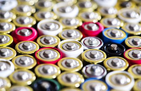 アルカリ電池の背景 写真素材