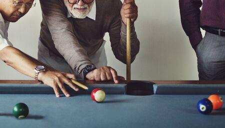 Billiard Ball Club Leisure Sport Shot Team Game Concept