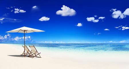 Tropical beach paradise in Samoa