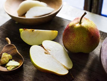 Fresh pears fruit Reklamní fotografie