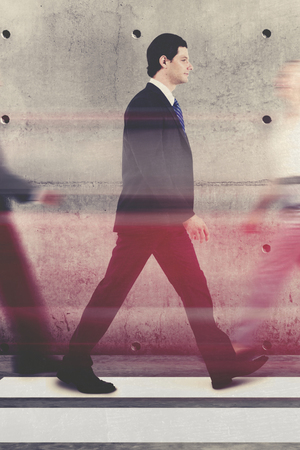 Business people on the move