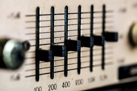 Macro shot of music equalizer