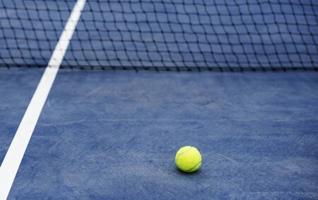 Ball in a tennis court