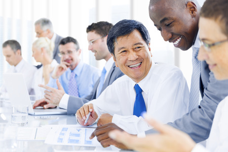 Business people in a meeting Stock Photo
