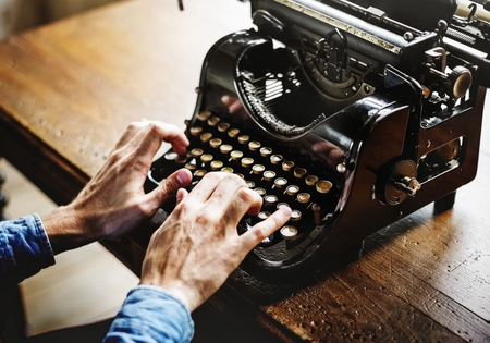 Hands Typing Typewriter Ancient Retro Classic Keyboard
