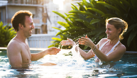 Lovely couple spending quality time together Stock Photo