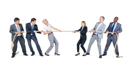 Gente de negocios en competencia