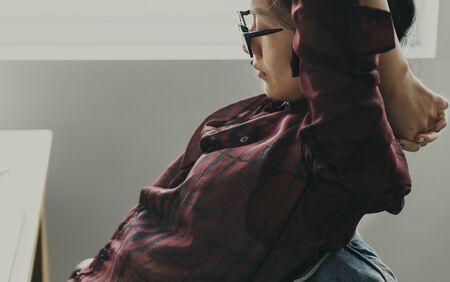 ストレッチの概念を休憩・ ファッション ・ デザイン 写真素材 - 90181208