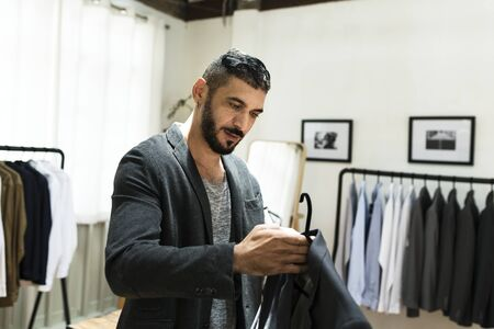Customers shopping for clothes