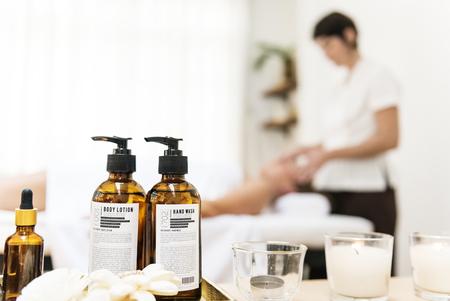 Spa salon therapy treatment Stock Photo