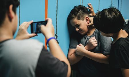 Intimidación en el pasillo Foto de archivo - 90033728